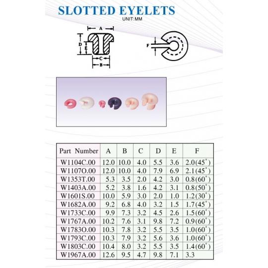 SLOTTED EYELETS