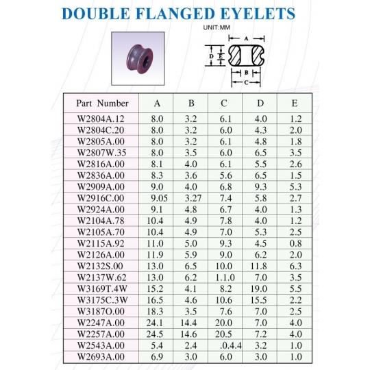 DOUBLE FLANGED EYELED